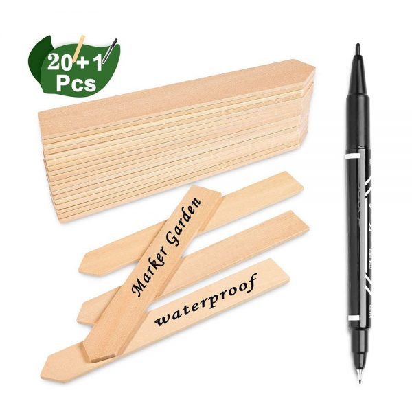 Bamboo Plant Labels Eco-Friendly Wooden Plant Signage Card