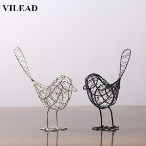 Iron Figurines Abstract Bird Home Decoration