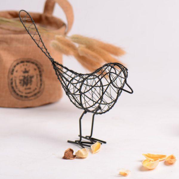 Iron Figurines Abstract Bird Home Decoration