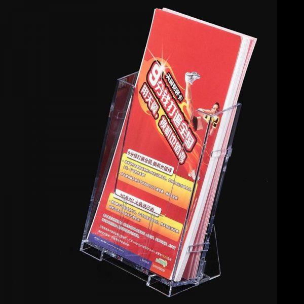 Vividcraft Office Display Clear Acrylic Business Transparent Brochure Holder Pamphlet Display Holder Paper Desk Stand Card D8Y7