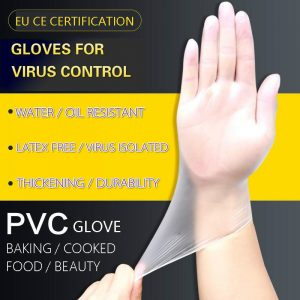 100 Pieces Of Disposable Food-grade Pvc Protective Gloves Hypoallergenic And Transparent For Cleaning Restaurant Safety Gloves